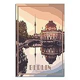 Póster de Berlín de Alemania vintage de viaje en lienzo de impresión artística de oficina familiar dormitorio pared carteles decorativos regalo