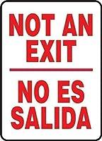 ない/いいえESサリダは、プロパティのために金属面白い警告サイン、家庭装飾スズ記号に署名します。