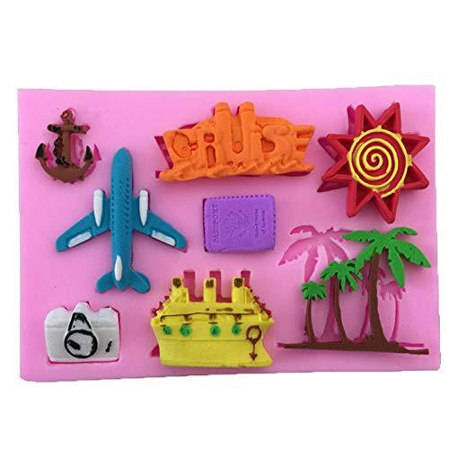 ZPZZPY 1Pcs Flugzeug, Flugzeug, Form Silikon Kuchenform Fondantform, Gelee, Süßigkeiten, Schokoladenform, Dekorieren Backgeschirr