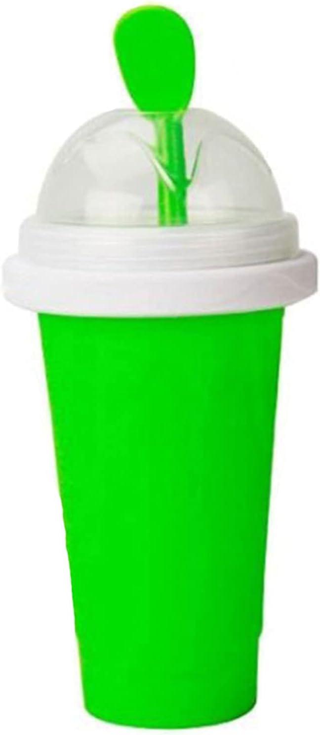 FHISD Tazas de batido caseras de Bricolaje, Taza de Bebidas congeladas, Doble Capa, Helado congelado, batido de Leche, enfriamiento rápido para niños