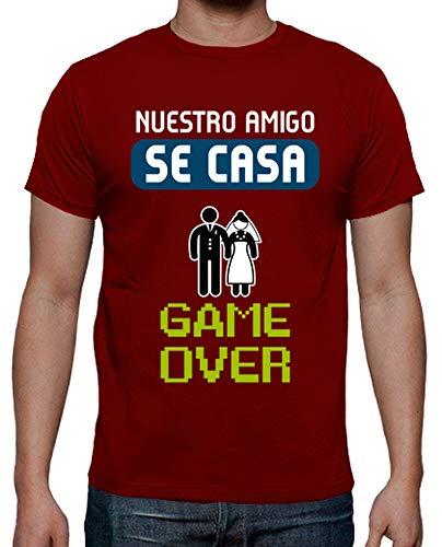latostadora - Camiseta Despedida de para Hombre Rojo L
