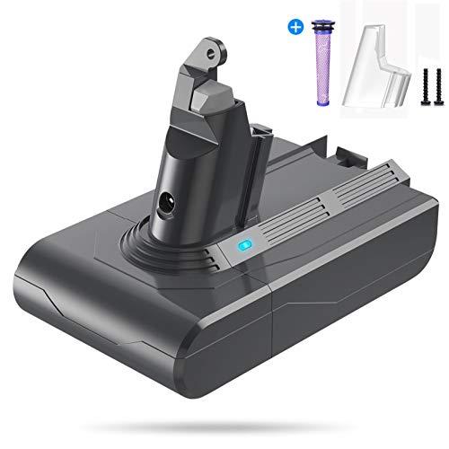 FLYLINKTECH 4000mAh Batería para Dyson V6 DC59 DC58 DC58 DC61 Dyson DC62 Batería DC72 DC74 Batería de Repuesto para aspiradora de Mano con 1 Filtro de Repuesto 1 Destornillador 1 Cepillo de Li