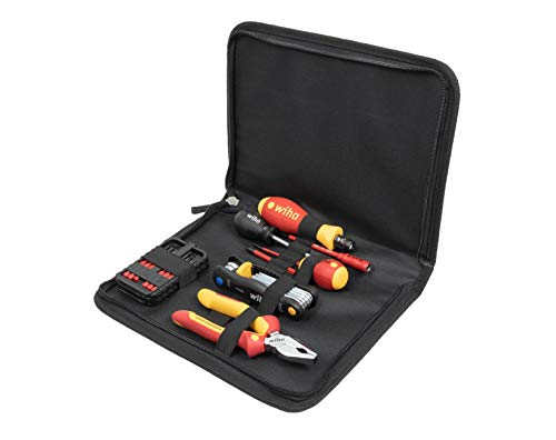 Wiha eBike Werkzeug Set (44604), 7 teilig, e Bike Reparatur Set, Multitool zur Reparatur, Werkzeugtasche für zu Hause, Multifunktionswerkzeug für Fahrrad Reparatur, Reparaturset für den Profi