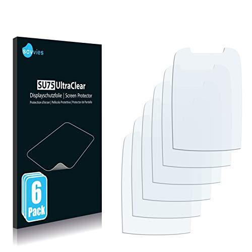 Savvies 6X Schutzfolie kompatibel mit Samsung SGH-D600 Bildschirmschutz-Folie Ultra-transparent