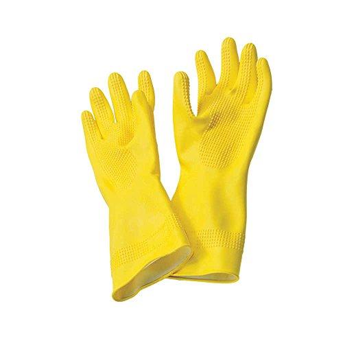 Behrend Noppenhandschuhe, Anziehhilfe, Alltagshilfe, Latexhandschuhe, gelb, L, 1 Paar