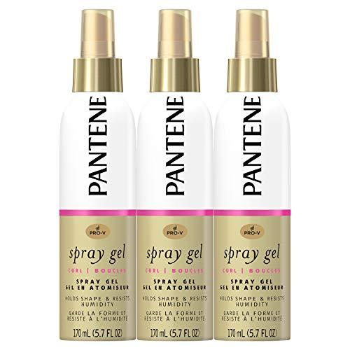 Pantene, Spray Gel, Pro-V Curl, Hold Shape & Resist Humidity, 5.7 Fl Oz, Triple Pack