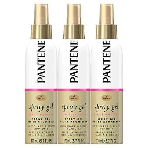 Pantene, Spray Gel, Pro-V Curl, Hold Shape & Resist Humidity, 5.7 Fl Oz, Triple Pack
