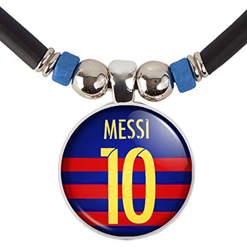 Lionel Messi Fc Barcelona Soccer Jersey Pendant Necklace, Leo Messi Jewelry