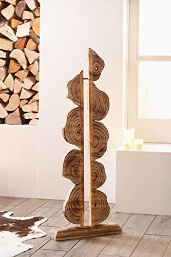 Dekoleidenschaft Deko Objekt Artwork aus Holz, 105 cm hoch, geflammt