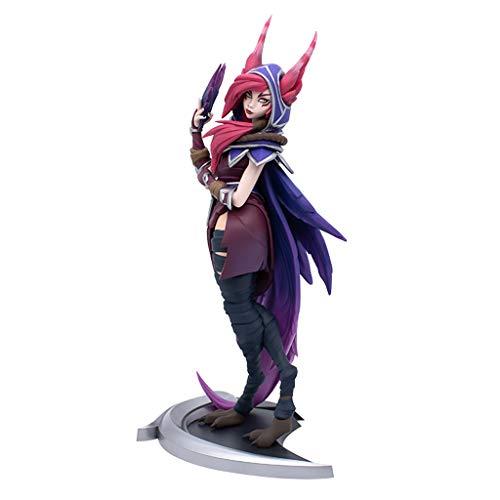 para Liga de Legends Game Figuras, LOL Series Sculpture: The Rebel/Xayah (XL), Modelos de Resina exquisitos y fríos, Colecciones Estatua de Escritorio o gabinetes de visualización