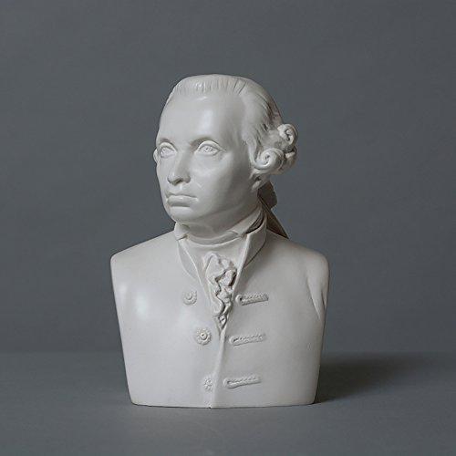Immanuel Kant Skulptur aus hochwertigem Zellan, echte Handarbeit Made in Germany, Büste in weiß, 11cm