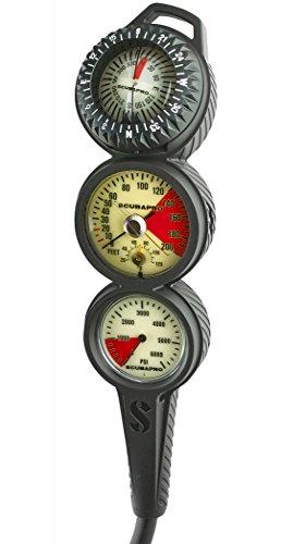 SCUBAPRO in-Line 3 Gauge Console, High Pressure Hose