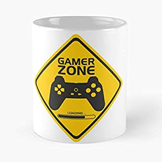 Gamer Zone Shirt Classic Mug - The Funny Coffee Mugs For Halloween, Holiday, Christmas Party Decoration 11 Ounce White Leinstudio.