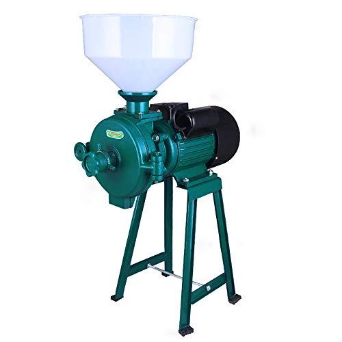 Getreidemühle Futtermühle Elektrisch Schrotmühle Kornmühle Getreidemahlmaschine mit Trichter für Mais Weizen Reis Sorghum 1500W