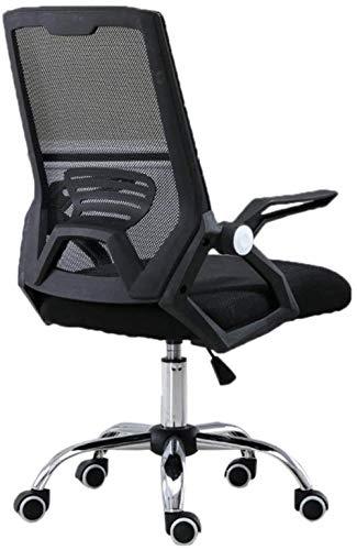 RXL Cómodo Silla De Oficina Negro/Gris De La Cintura del Respaldo Silla De Recepción del Personal Académico Robusto (Color : B)