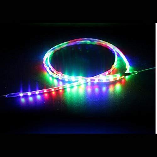 Accesorios de coche 45 cm Coche Reflective Strip Decoración Flexible LED Cinta Reflection Cinta Auto Reflector LED Tira de luz 12V (Color : Multicolor)