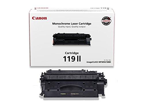 Canon Genuine Toner, Cartridge 119 II Black, High Capacity (3480B001), 1 Pack, for Canon imageCLASS MF5800 /5900 / 6100 Series, MF410 Series, LBP6300 / 6600 Series, LBP250 Series Laser Printers