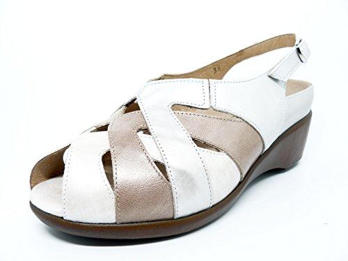 PieSanto dames sandalen met uitneembare binnenzool van Nude Comb. Vison 1153-110