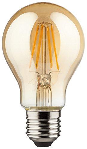 Müller-Licht Retro-LED Lampe Birnenform E27 - mit innovativer Filament-Technologie - superwarmweißes Licht für eine angenehme Atmosphäre - 2000 K - Glas - 4.5W - Gold