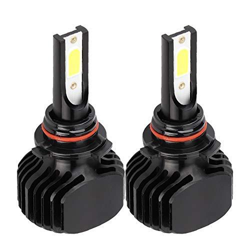 Faros delanteros para coche 2 uds, Faro LED para coche sin ventilador, luz blanca L5 6000K