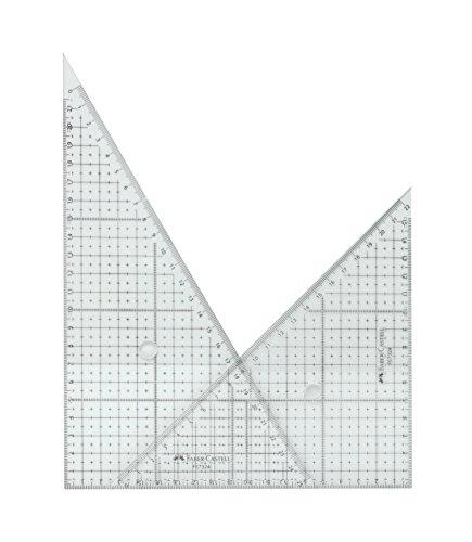 ファーバーカステル 方眼三角定規 24cm (2mm 2枚) FE 7324