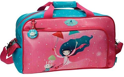 Gorjuss Under My Umbrella Bolsa de Viaje, 25.88 litros, Color Rosa