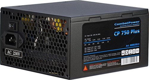Combat Power CP 750W Plus 750 WATT aktiv PFC ATX PC-Netzteil supersilent eff. 82+