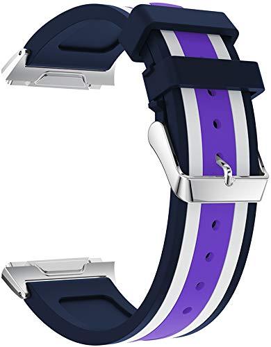 Gransho Correa de Reloj Recambios Correa Relojes Caucho Compatible con Fitbit Ionic - Silicona Correa Reloj con Hebilla (Pattern 1)