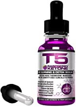 T5 Raspberry Ketone Serum Powerful Fat Burners Raspberry Ketones Blend Fast Acting Weight Loss Detox Drops 1 Month Supply Suitable for Vegetarians UK Manufactured Estimated Price : £ 11,99