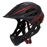 XYL Casco da Bici Kid Protezione facciale Integrale Staccabile Adatto per Bici da Corsa Ci...