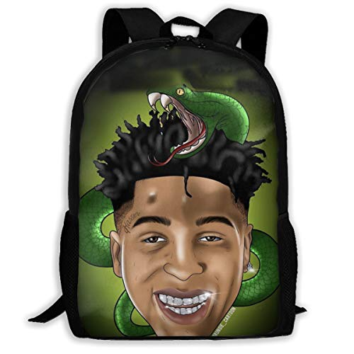 Youngboy Never Broke Again Youth Backpack Youngboy Never Broke Again School Bookbag Unisex College Student Travel Laptop Backpack