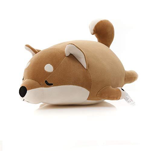 Niuniu Daddy 16 Shiba Inu Corgi Stuffed Animal Puppy Plush Toy Hugging Pillow for Sleeping, Cuddly Pet Doll Plushies, Fits All Ages, Brown