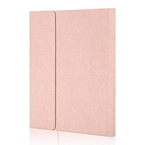 Hjkl Negro Caja del Teclado para iPad 10.2 2020 8th Gen 2017 2018 Air 1/2 9.7 PRO10.5 Air 10.5 Funda de Cuero con Teclado Bluetooth (Color : RG, Size : iPad 10.2 2020)