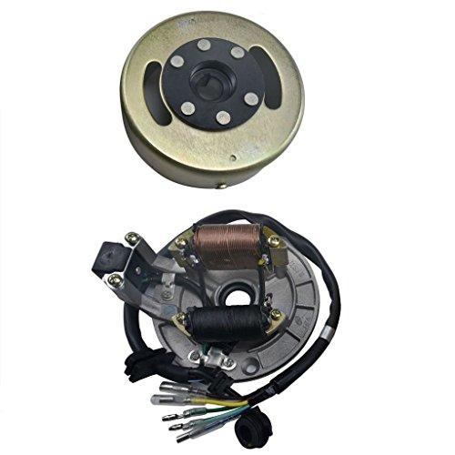 WPHMOTO Magneto Stator Ignition Generator Plate Flywheel Assembly Kit 2-Coils For 50cc 110cc 125cc Dirt Pit Bike SSR SDG Zongshen Lifan