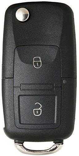 Liamgate Ersatz Schlüsselgehäuse-mit-Rohling geeignet für VW-Schlüssel-mit-2-Tasten