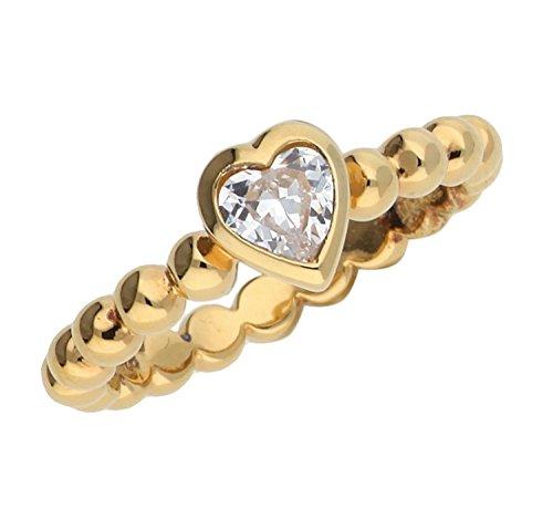 pas cher un bon Esprit-Pellet Coeur Bague-Or-Femme-Argent 925/1000 3,7 g-Cristal-Oxyde…