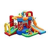 SHY Castle Bouncer con tobogán Castillo Hinchable Inflable para niños con Salto y tobogán Castillo Aro de Baloncesto Área de Juego Castillo Hinchable Inflable