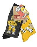 Simpsons y1h173The–Homer Herren Socken (Größe 6–11, 2Stück)