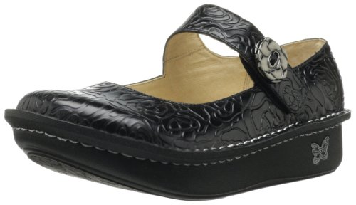Alegria Womens Paloma Black Embossed Rose 41 M EU/10.5-11 B(M) US