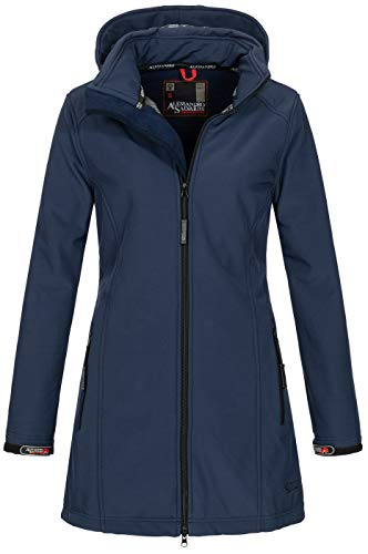 A. Salvarini Damen Softshell Jacke wasserabweisend Outdoor lang AS-131 [AS-131-Navy-Gr.L]