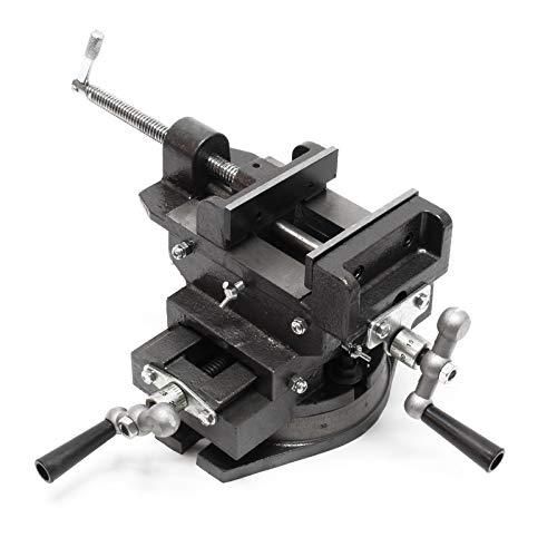 WilTec Étau de Machine Pivotant 150 mm Étau d'établi Machine de précision Meulage Fraisage Outil Atelier