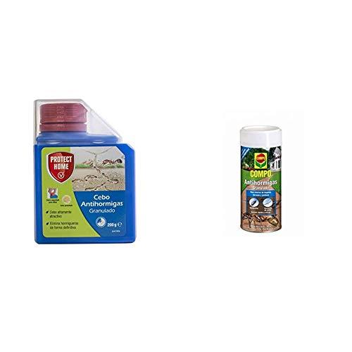 Bayer Garden Protect Home SBM Antihormigas Granulado 200gr, Azul + Compo Antihormigas, Formato granulado para espolvorear, de Uso Interior y Exterior, Efecto Duradero, 300 g