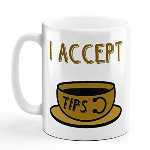 N\A Taza de café de 11 onzas, Puntas de Palabras Marrones Que aceptan Solo diseño de Taza de té de cerámica de Frijol Java