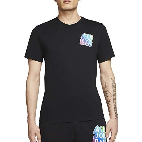 Nike Aufkleber T-Shirt für Herren, schwarz, CD5638-010, Schwarz XL