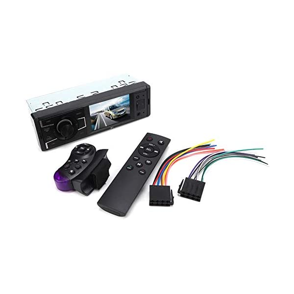 MP3 Player Car Stereo MP5  Player Stereo Radio Music Video Receiver Car MP3 Bluetooth Radio Player Stereo Audio in-Dash Remote Controller Support USB TF AUX RCA 3