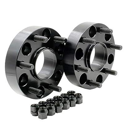 "Wheel Accessories Parts Set of 2 Hub Centric Wheel Spacer/Adapter - Thickness: 1.5"" - 6x5.5 to 6x5.5 - Lug/Stud Thread: 12x1.5 - Hub Bore: 93.1mm - 6 Lug (2 Pc, 1.50"", 6x5.5, 12x1.5, 93.1mm)"