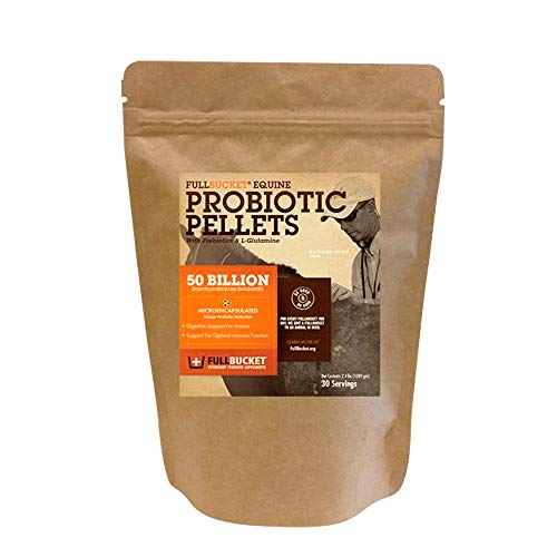 FullBucket Equine Probiotic Pellets with Saccharomyces boulardii for...