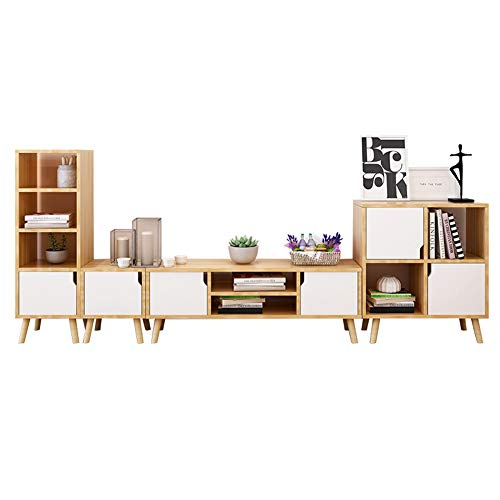 MROSW Koffie Tafel & TV Kast & Locker & Four-Layer Locker Woonkamer Meubelset Klein Appartement Woonkamer Kast Combinatie