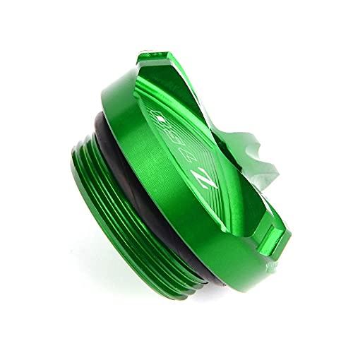 para K-awasaki Z750 2004-2010 Tapón De Llenado De Aceite CNC para Motocicleta Tapón De Drenaje De Aceite del Motor Tapón De Drenaje De Aceite (Color : Verde)