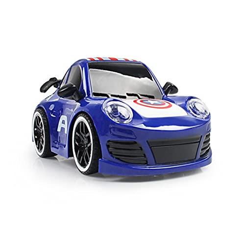 Superhéroe 4WD High Speed Control Remoto Control Rift Drift Electric RC Car 2.4GHz Radio Radio Control Rac Racing Cars Electric Racing Coche para niños y Adultos al Aire Libre X ( Color : Blue M )